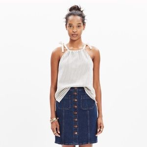 Madewell tempo tie top striped